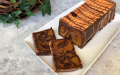 Orange Cake with Chocolate Swirl