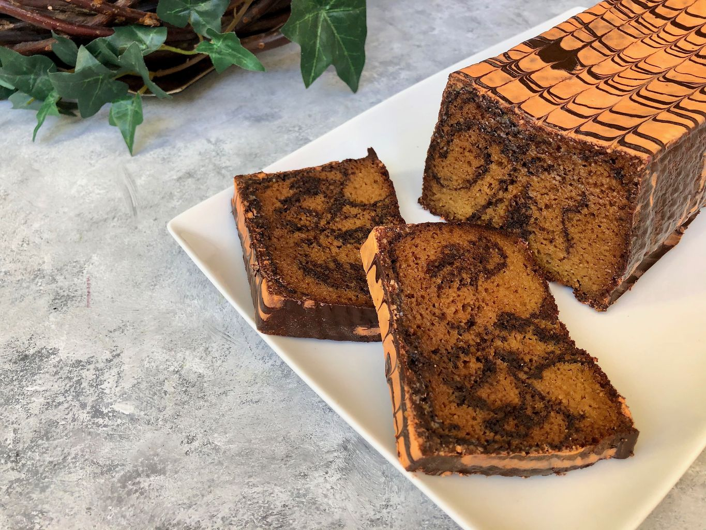 Orange cake with chocolate