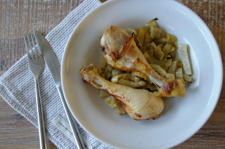 chicken fennel plate