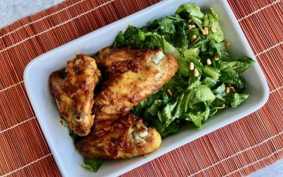 Tandoori Chicken Wings with Green Lettuce