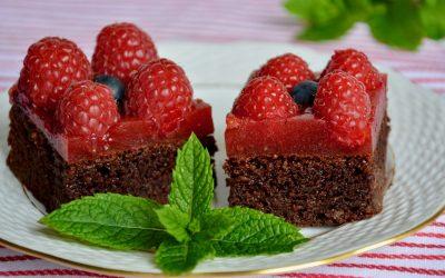 Paleo Beetroot Chocolate Brownie with Raspberry