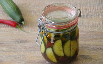 Sweet and Sour Pickled Cucumbers