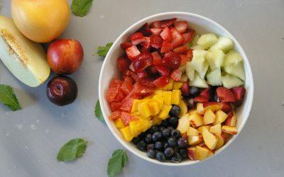 Summer Fruit Salad with Honey Mint Dressing