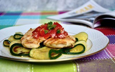 Paleo Chicken Breast with Zucchini and Tomato Salsa
