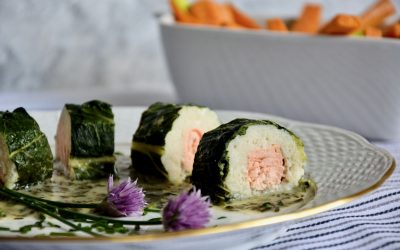 Paleo Fish Roll with Chives Sauce