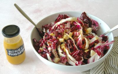 Radicchio Salad with Honey Mustard Dressing
