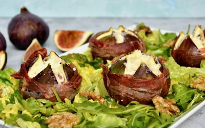 Baked Fig with Prosciutto di Parma and Scotch