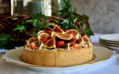 Lactose Free Mascarpone and Fig filled Pastry