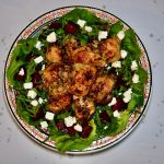 Lemon Chicken with Beetroot and Butterhead Lettuce Salad