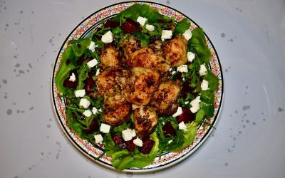 Lemon Chicken with Beetroot and Feta Salad