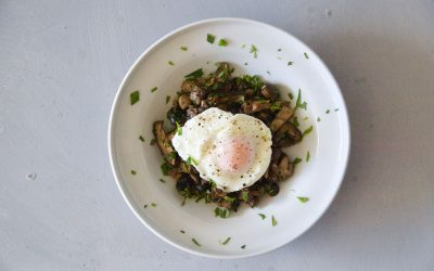 Mushrooms with Poached Eggs