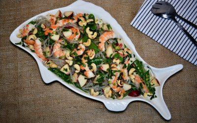 Prawn, Snap Peas and Nectarine Salad