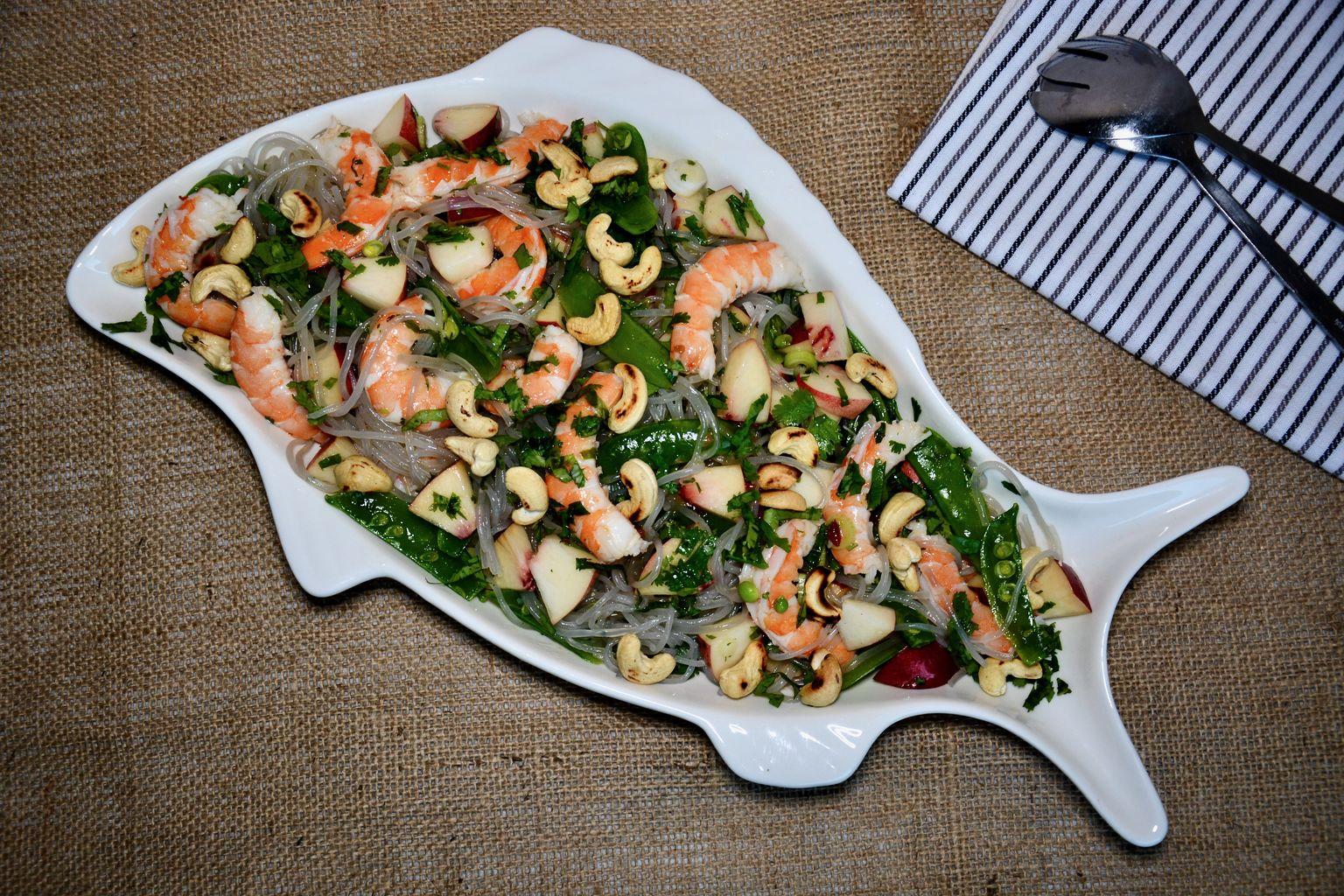 Prawn Snap Peas Nectarine Salad