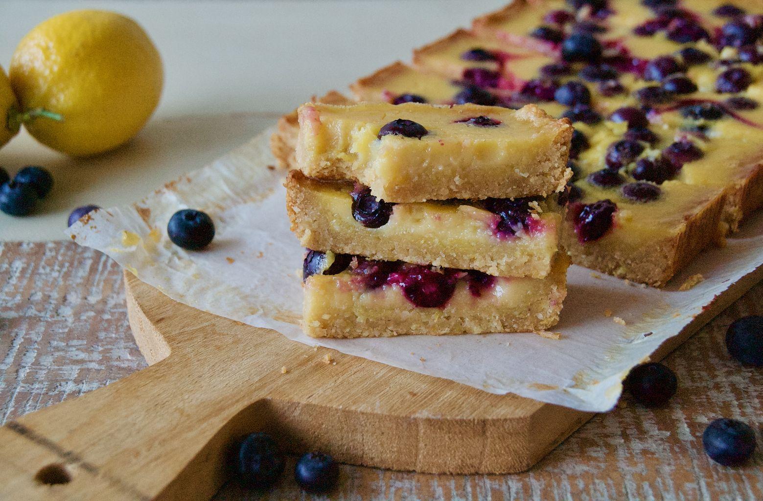 Paleo Lemon Blueberry Bar