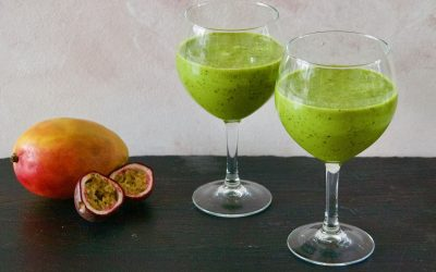 Mango Passion Fruit Green Smoothie