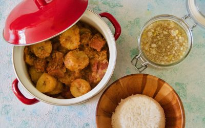 Plantain Stew with Salt Beef