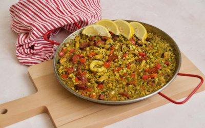 Paleo Broccoli Rice Paella