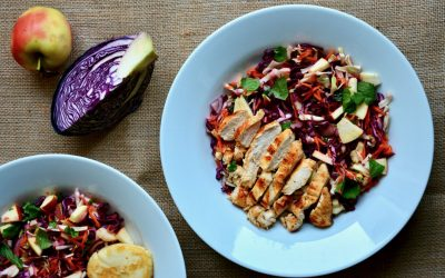 Red Cabbage, Carrot and Apple salad