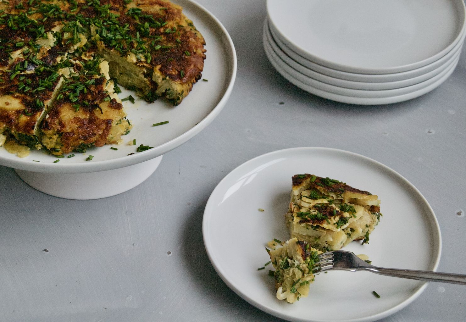 Spanish Tortilla with Kale