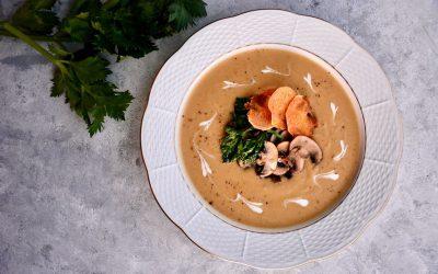 Chestnut Cream Soup with Mushroom