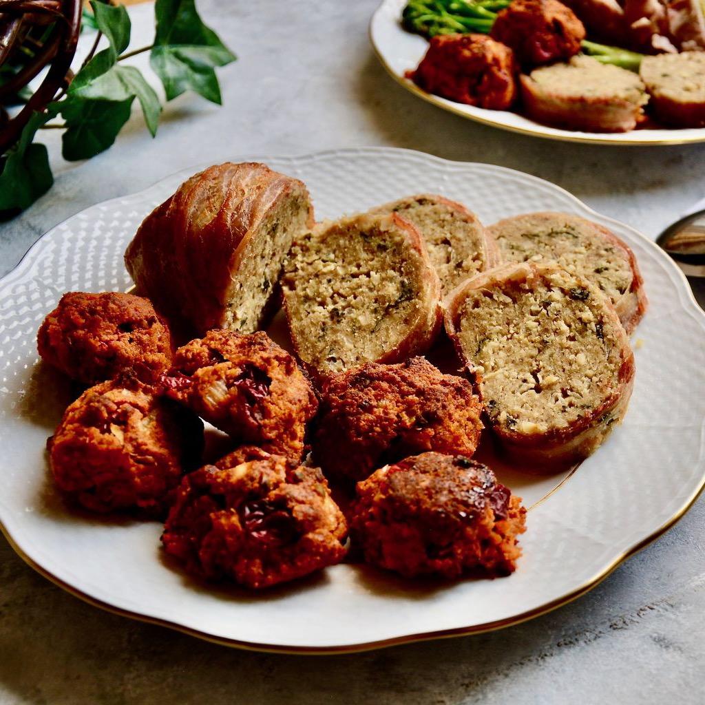 Spaghetti Squash with lamb meatballs