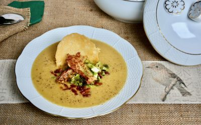 Savoy Cabbage Soup with Parmigiano Crisp