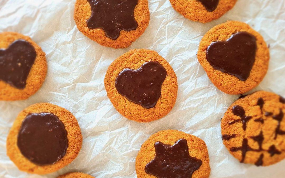 Gluten Free Orange Cookies with Chocolate Glaze