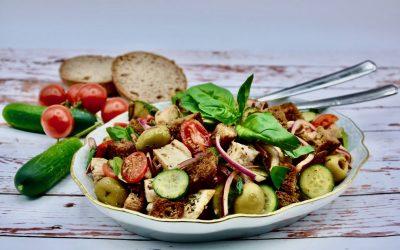 Chicken Panzanella – Italian Bread Salad with Chicken