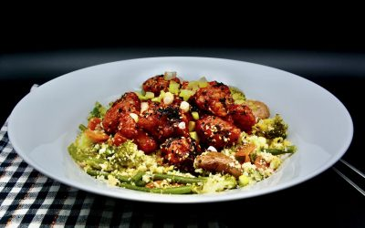 Crispy Chinese Sesame Chicken Thighs