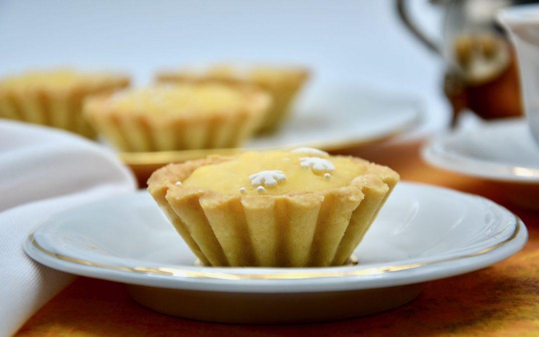Lemon Curd in Almond Crust Baskets