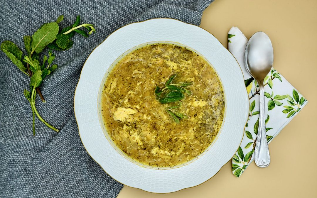 Persian Onion Soup with Beaten Eggs