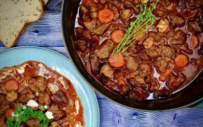 Pork Cheek Stew with Red Wine