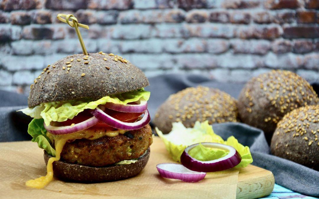 Keto Chicken Burger and Bread Roll