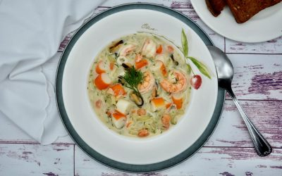 Paleo Seafood Stew with Dill